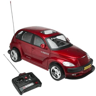 Radio control chrysler pt cruiser with lights & sounds - large 1:6 scale