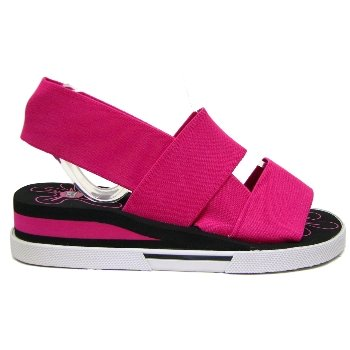 Womens Pink JuJu Wedge Beach Summer Ladies Sandals