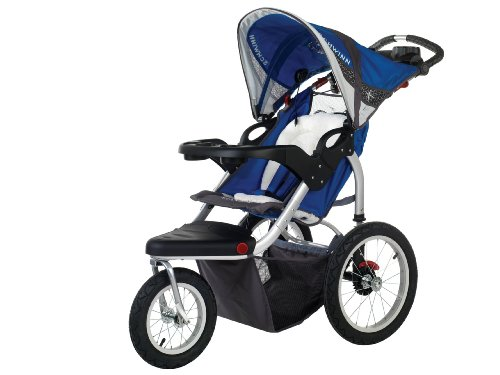 Schwinn Turismo Swivel Single Jogger, Blue/Gray