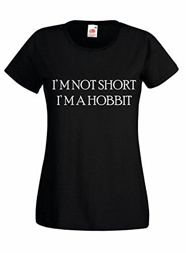 Settantallora - T-shirt Maglietta donna J1183 I'm Not Short I'm Hobbit Taglia S