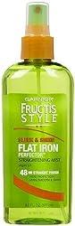 Garnier Fructis Style Sleek & Shine Flat Iron Perfector Straightening Mist 24 Hour Finish, 6 Fluid Ounce
