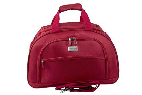 Borsa da palestra PIERRE CARDIN borsone da viaggio rosso con tracolla M266