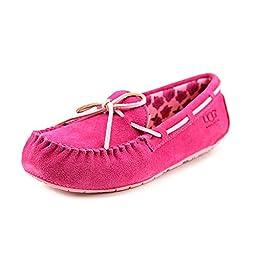 UGG Kids Girl\'s Ryder Rose (Toddler/Little Kid/Big Kid) Princess Pink Suede Boat Shoe 3 Little Kid M