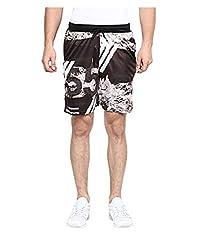 Yepme Men's Black Polyester Active Shorts - YPMSORT0218_S