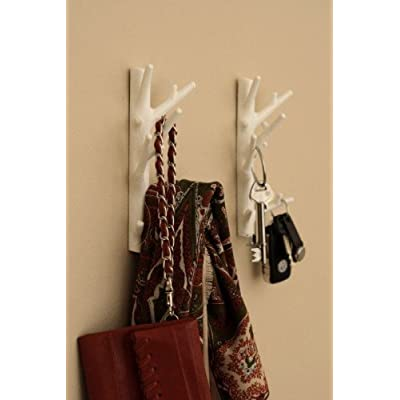 Bosign Branch Wall Mounted Coat Hook White Large