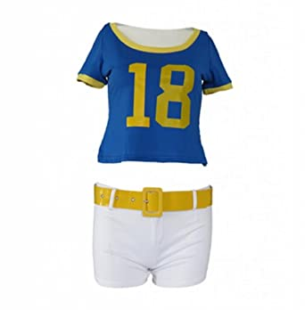 L-email Wig Short Sleeve Ladies Musical Uniform Fancy Dress Cheerleader Costume... by L-email cosplay