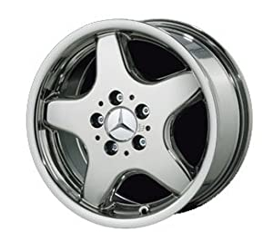 "16"" 5 Spoke ""AMG Style"" Chrome Wheels for Mercedes Benz - Set of 4 with Lug Bolts and Center Caps"