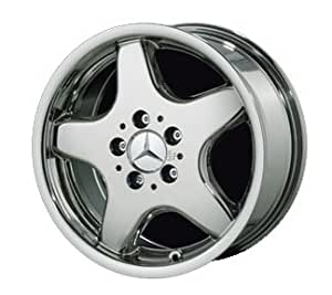 """17"""" 5 Spoke """"AMG Style"""" Chrome Wheels for Mercedes Benz - Set of 4 with Lug Bolts and Center Caps"""