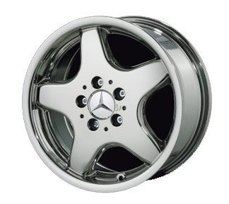 "17″ 5 Spoke ""AMG Style"" Chrome Wheels for Mercedes"