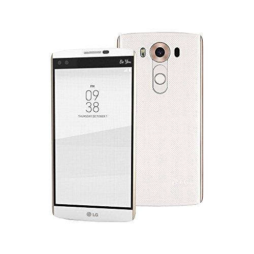 LG V10 H962 Dual SIM 64GB 5.7-Inch Factory Unlocked Smartphone (Luxe White) - International Stock No Warranty