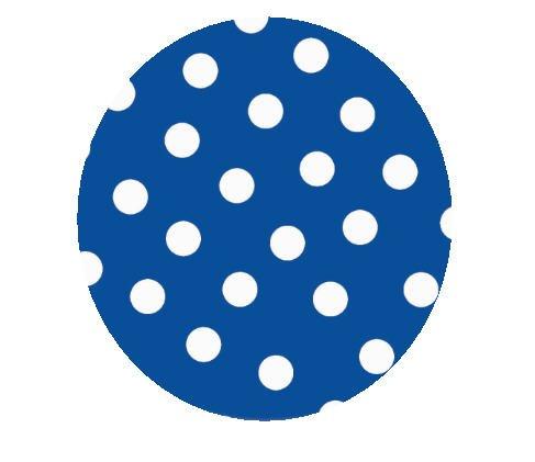 Blue Polka Dot 18 Inch Mylar Balloon