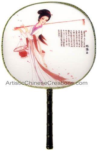 Chinese Gifts: Chinese Silk Hand Fan - Chinese Beauty