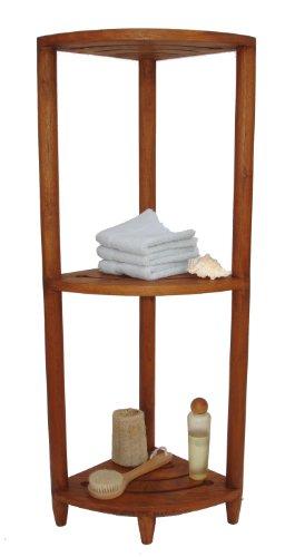 Solid Teak Bath 3 Shelf Corner Stand Jenniferjgreeneee
