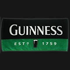 Guinness Green Black Pint Bar Towel