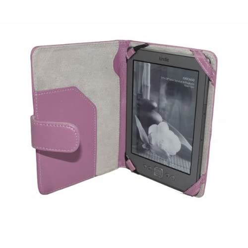 SAVEICON Purple LS kindle 4 leather case Cover for Latest Generation 2011 Kindle 4 Wi Fi 6 Inches (NON TOUCH)