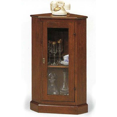 Wooden Corner Cabinet cm 38x38, h 90, MADE IN ITALY