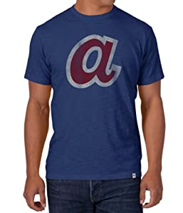 Atlanta Braves 47 Brand MLB Cooperstown Scrum Premium T-Shirt by