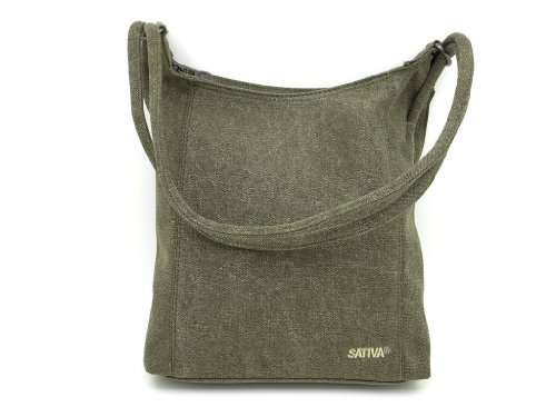 Sativa Bags Hemp Shoulder Bag - Khaki - One Size