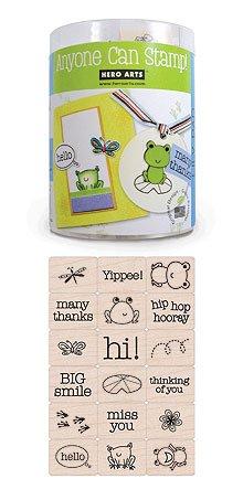 Wood Block Ink 'n' Stamp-Lily Pad by Hero Arts
