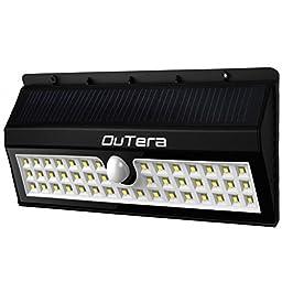 OuTera 3200mA 44 LED Solar Wall Light with Motion Sensor