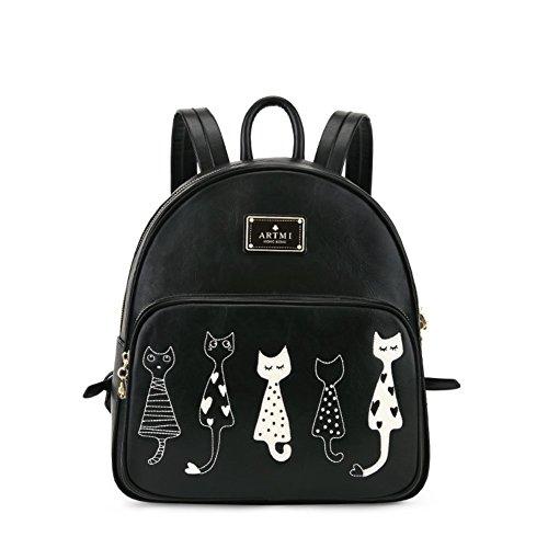 Loisirs sac à bandoulière chat/Collège vent couleur frappé petit sac/Mme sac à dos