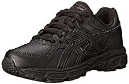 ASICS Gel Contend 3 GS SL Running Shoe (Little Kid/Big Kid), Triple/Black/Onyx, 4.5 M US Big Kid