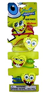 Spongebob Hair Ties - Nickelodeon Spongebob Squarepants Ponytail Holders (8 pcs)