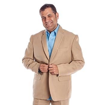 Mens linen suits for destination weddings. Pure Tan