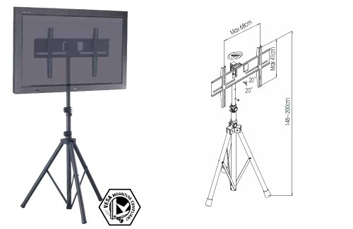 Allcam Tr941 Tripod Portable Floor Stand With Vesa