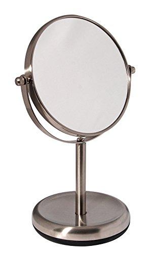 Bumper-Serie-KosmetikspiegelStandspiegel-hochwertigem-Edelstahl-matt-gebrstet
