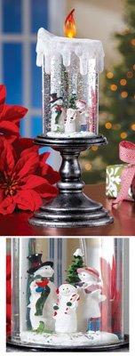 Christmas Flameless LED Candle Snow Globe