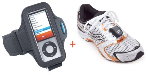 Sport Armband For Ipod Nano 5G Or 4G (Can Use With Or Without Nike+ Receiver) And Sensor Case To Hold Nike+Ipod Sport Kit Sensor (Does Not Include Actual Sensor)