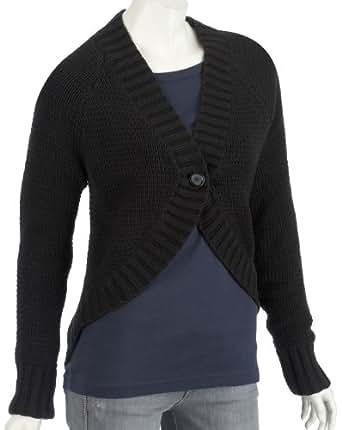 Puma Womens Knitted Button Cardigan Black UK 10
