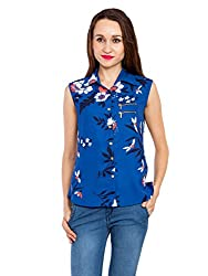 Kridh Women's Casual Shirt (sbwfp1002_ Dark Blue_ Medium)