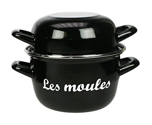 The Kitchenette 3645570 Marmite à Moule Émail Noir 16 cm