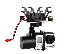 SteadyGo 3 Axis High Performance Gimbal Stabilizer with High Torque Motors for GoPro Hero 3, Hero 4 - Easy Setup, No Tuning, Works With DJI Phantom, 3DR Iris+ and Most Other Quadcopters
