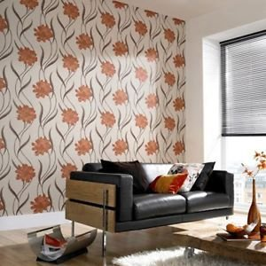 Superfresco Texture Poppy Wallpaper - Burnt Orang from New A-Brend