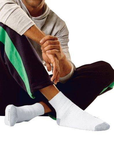 Hanes Men's Big & Tall Cushion Ankle Socks 145, White, 12-14