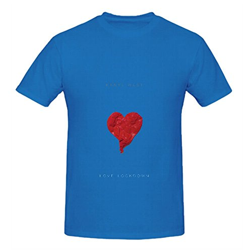 Kanye West Love Lockdown Soul Album Men O Neck Short Sleeve T Shirt Blue