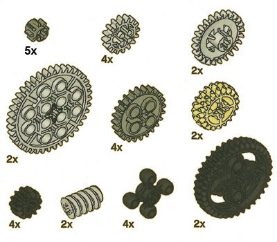 Lego Technic Gears Assortment Pack Lego Technic Gears Assortment