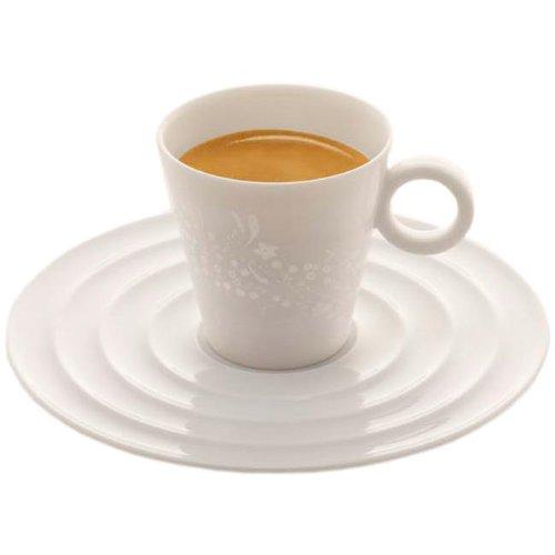 Nespresso Onirio Premium Espresso Cups  &  Saucers, Pack of 2