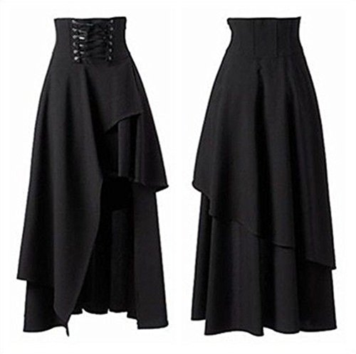 Blessume-Punk-Skirt-Black