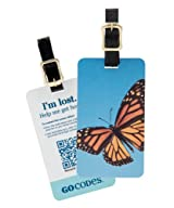 GoCodes Smart QR Bar Code Luggage Tag - Summer Butterfly One Size