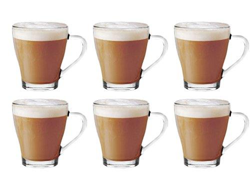Lot de 6)-Discount PacK ****en verre pour thé, café Latte/Cappuccino Choco tasses présentées à chaud