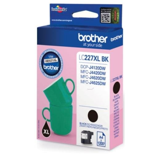 Brother LC-227XLBK Cartuccia Inkjet alta Resa, Nero