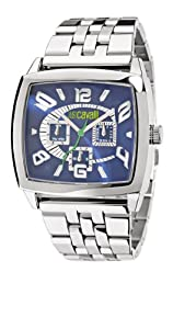 Just Cavalli Men's R7253625035 Screen Silver Stainless-Steel band watch.