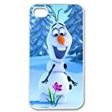 Cute Snowman Olaf Hard Plastic Apple iPhone 4 4s Case Back Cover,Hot iPhone 4 4s Case at Surprise you