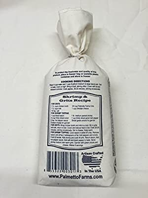 Palmetto Farms White Stone Ground Grits 2 LB - Non-GMO - Just All Natural Corn, No Additives - Naturally Gluten Free, Produced in a Wheat Free Facility - Grinding Grits Since 1934
