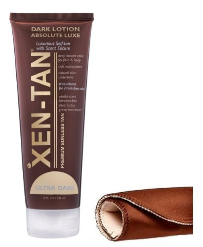 Xen-Tan Dark Absolute Luxe Self Tanning Lotion 236ml & Tanning Mitt!