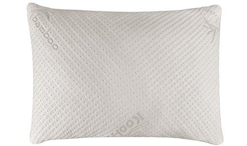 Snuggle-Pedic Bamboo Shredded Memory Foam Pillow with Kool-Flow Micro-Vented Covering - Queen Size (Iso Cool Pillow compare prices)